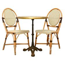 latest french cafe table and chairs c1950 french bistro table paired w bamboo chairs antiques