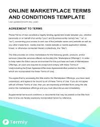 marketplace terms conditions