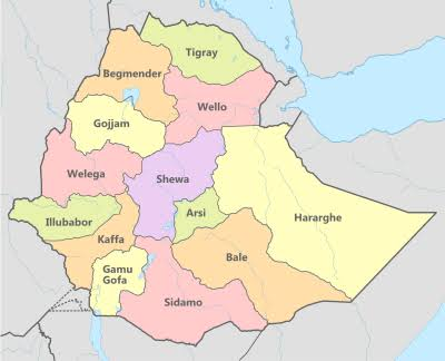 Image result for Ethiopia Map