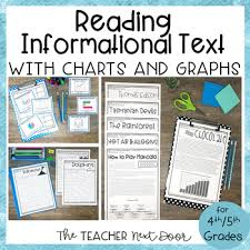 Informational Text With Graphs And Charts Reading Informational Text With Charts And Graphs For 4th 5th Grade