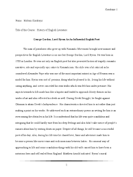Research Paper About George Gordon Lord Docx Lord Byron