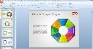 smartart powerpoint templates free editable octagon diagram for powerpoint free powerpoint