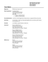Download Free Blank Resume Form Template Printable Biodata Format