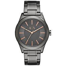men s watches men s designer watches john lewis buy armani exchange ax2330 men s bracelet strap watch gunmetal online at johnlewis com