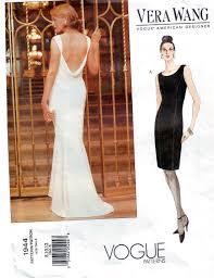 Designer Evening Gown Patterns Vera Wang Designer Vogue Evening Formal Dress Pattern Uncut