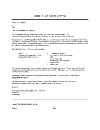 Letter Of Offer Template Offer Letter Format Free Download