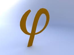 greek letter phi 3d model