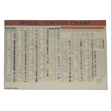 Automotive Wheel Torque Chart Wheel Torque Wall Chart