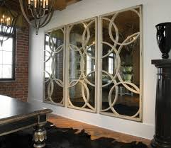 neoteric wall mirror large with cream wooden frame circle shape placed on the interior white decorative
