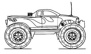 Coloring Grave Digger Monster Truck Coloring Page Free Printable