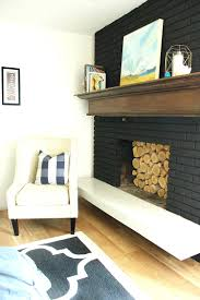 black painted brick fireplace pictures red diy paint white painted brick fireplace mantel