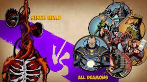 Shadow Fight 2 Siren Head Vs All Demons ...