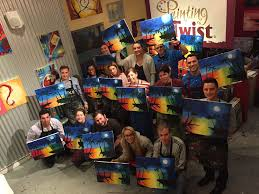 painting with a twist happy hour with the marketing team carecloud miami fl