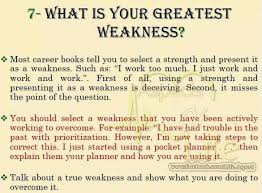 Weaknesses For Interview Examples Greatest Weakness Job Interview Tips Job Interview