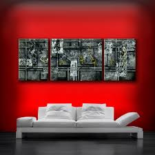 original acrylic painting by artist theo dapore 24 height by 66 width black white with a small amount of metallic gold gallery wrapped 1 5 inches thick