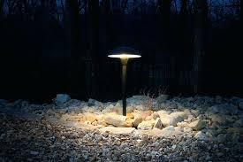 outdoor mushroom lights landscape led path lights w mushroom shade 3 watt adjule height shown installed