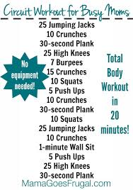 even busy moms have time for this 20 minute at home circuit workout