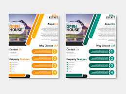 business open house flyer template open house real estate business flyer design template by