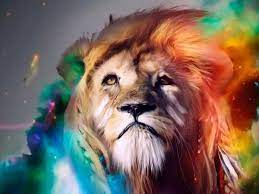 Lion In Colorful Smoke Live Wallpaper ...