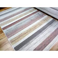 modern rugs style red cream horizontal