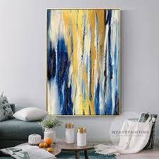 framed wall art modern abstract gold