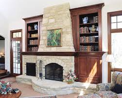 bookcases fireplace bookcase ideas design decor stone covered fireplace bookshelf around design decor stone covered