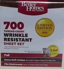 better homes 700 thread count sheet set fresh ivory full size wrinkle resistant