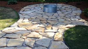 fire pit flagstone patio and landscaping almost done you within flagstone patio diy flagstone patio diy