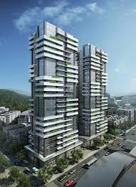 architecture building design. Building Facade, Elevation, Facade Design, Modern Apartments, Apartment Designs, Balcony Ideas, Condominium, Facades Architecture Design R
