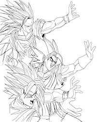 dragon ball z coloring sheet pages page awesome kids play color super free printable