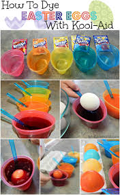 how to dye easter eggs with kool aid from totally the