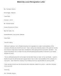 Gallery Of Resignation Letter Maternity