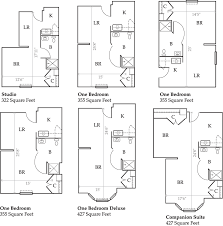 our memory care floor plans