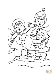 Little Carolers coloring page | Free Printable Coloring Pages