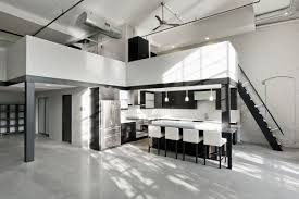 interior design furniture minimalism industrial design. Minimalist Kitchen Design · High Ceilings Industrial Loft Apartment Interior Furniture Minimalism