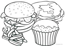 Healthy Food Coloring Pages Printable Free Eating Worksheets
