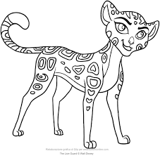 Small Picture Fuli The Lion Guard coloring page