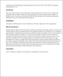 Resume Example: Free English Tutor Resume Sample Tutor Resume .