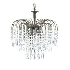 waterfall 3 light crystal chandelier