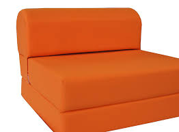 com orange sleeper chair folding foam bed sized 6 thick x 32 wide x 70 long studio guest foldable chair beds foam sofa couch high density
