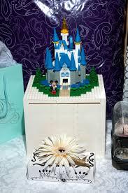 mickey inspired details at a disneyland wedding this fairy tale life Wedding Card Box Disney lego castle card box wedding place card holders disney