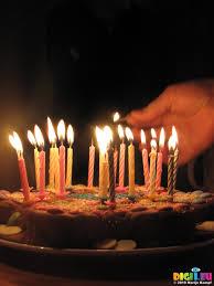 sx12308 lighting birthday candles on cake