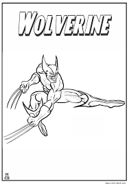 Wolverine, magneto, clyclope, etc … beautiful x men coloring page to print and color. Wolverine 74950 Superheroes Printable Coloring Pages