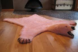 polar bear skin rug ideas for living room