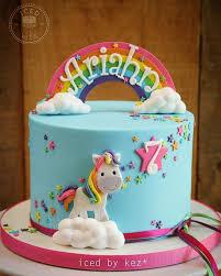 ariahn s rainbow unicorn cake i ve made her bday cake for the last three years this one makes me smile icedbykez pettinice rainbow unicorn