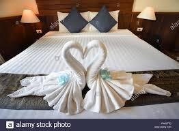 Liebe Konzept Flitterwochen Bett Für Zu Hause Oder Im Hotel