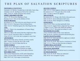 Plan Of Salvation Chart With Scriptures The Plan Of Salvation Scriptures Salvation Scriptures