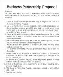 Partnership Proposal Samples Business Partnership Proposal Letter Template Free Templates
