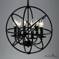 cage light chandelier 4 light polished chrome and black pendant pasco 4 light strap cage chandelier