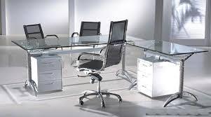 modern nervi glass desk